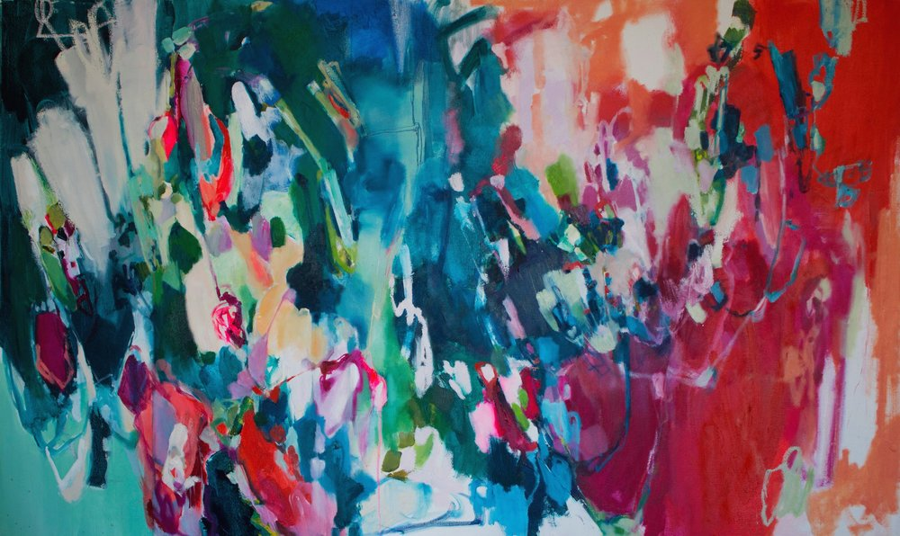 COUNTERBALANCE #3 60 in. x 36 in. oil, acrylic on canvas  SOLD
