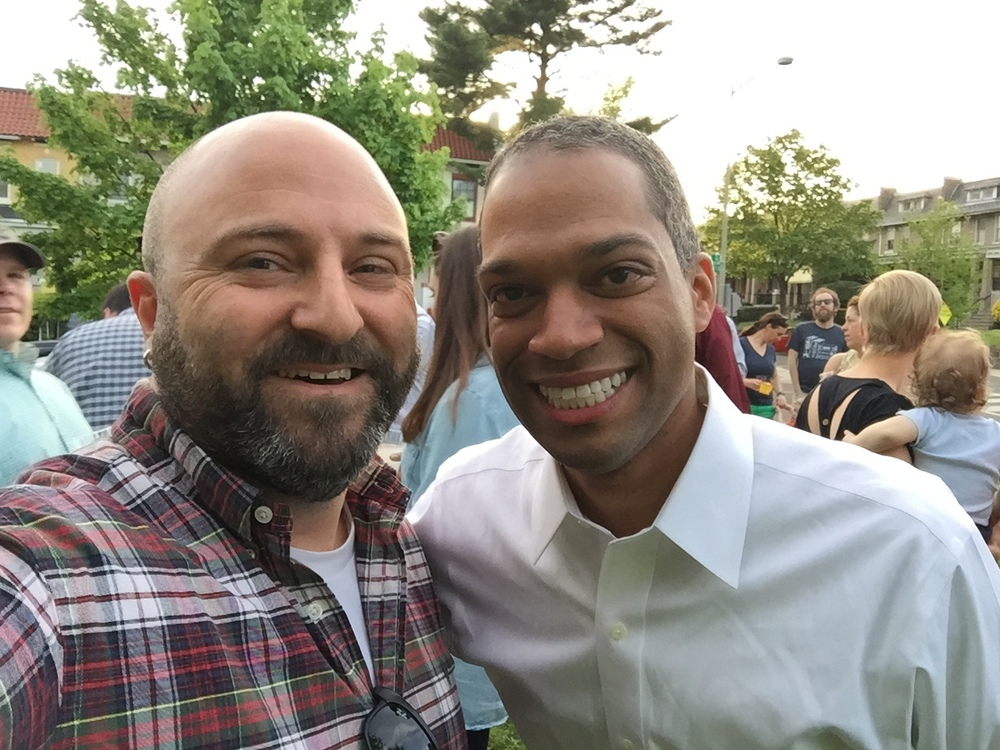 Councilmember-Elect Brandon Todd poses for an obligatory selfie with Drew.