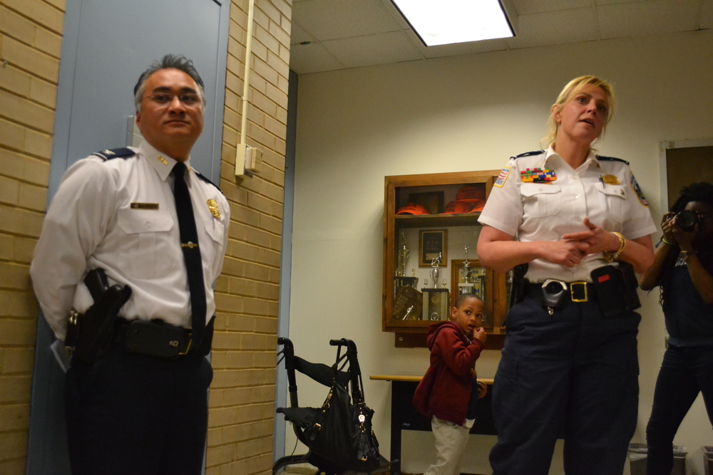 4D Commander Wilfredo Manlapaz and Chief Lanier.