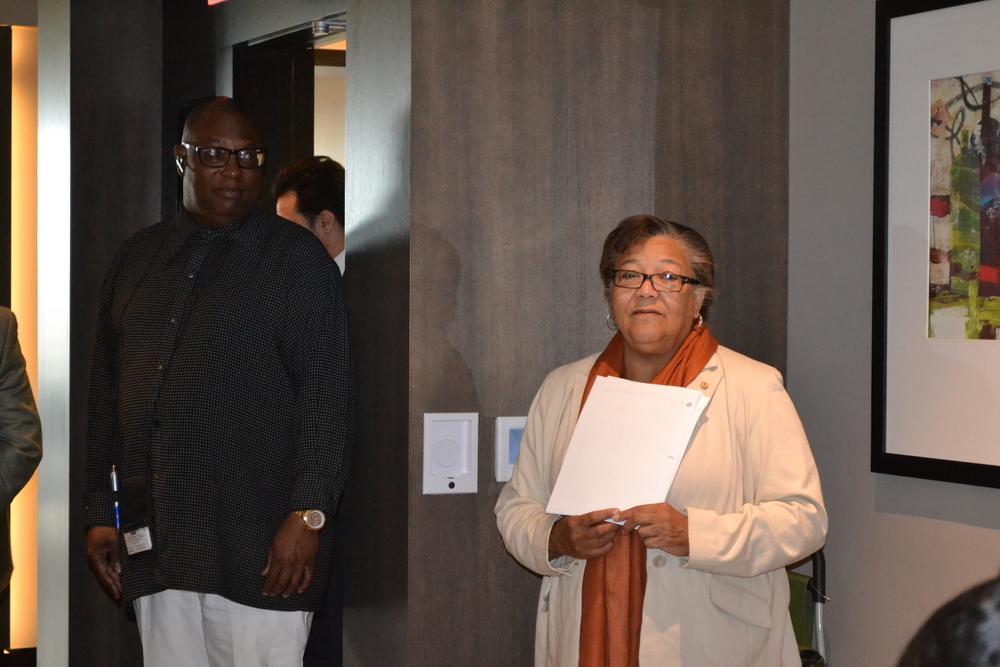 At-Large Councilmember Anita Bonds opening the meeting