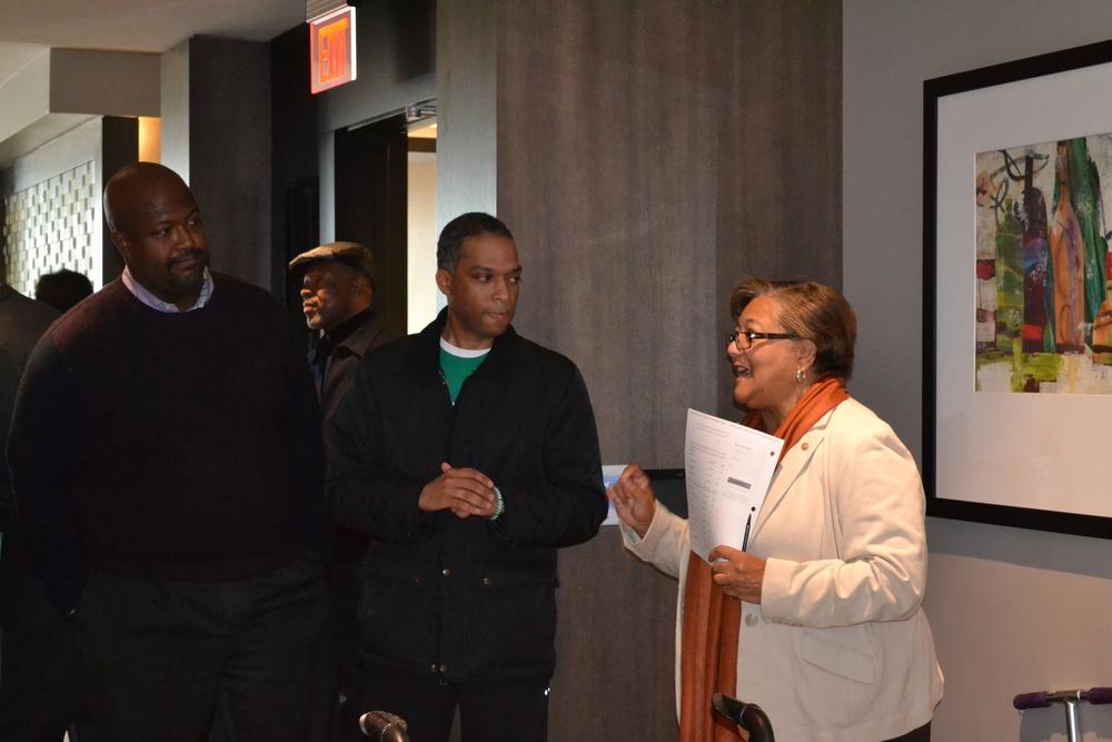 CM Bonds introducing candidates Leon Andrews and Brandon Todd.