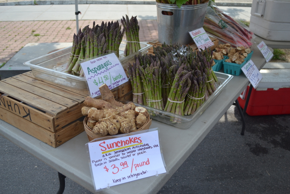 Kuhn's Farm has sunchokes, asparagus and plenty more.
