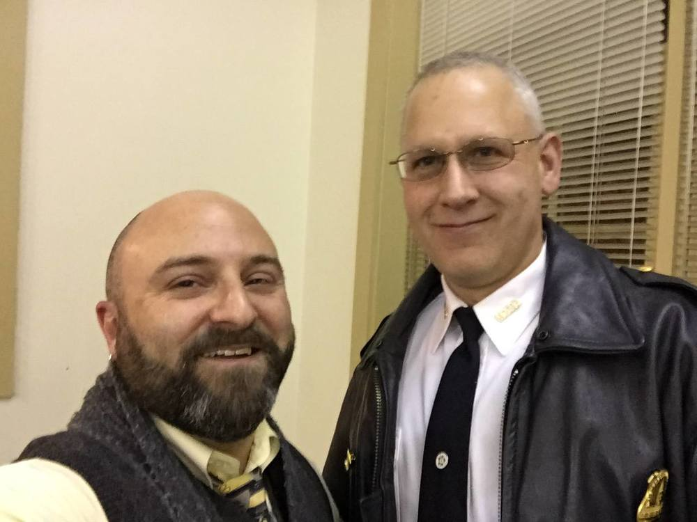 Captain Brian Bray poses for an obligatory selfie with Drew. 2/26/15