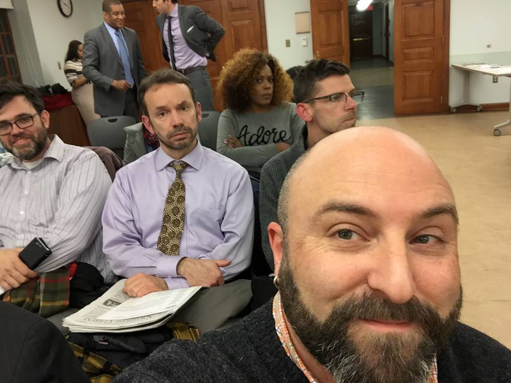 The ANC 4C meeting gets a selfie with Drew.