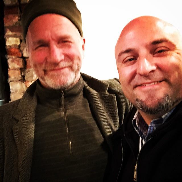 Hanging with Bertram at the quota art exhibit.    Nov 13, 2104
