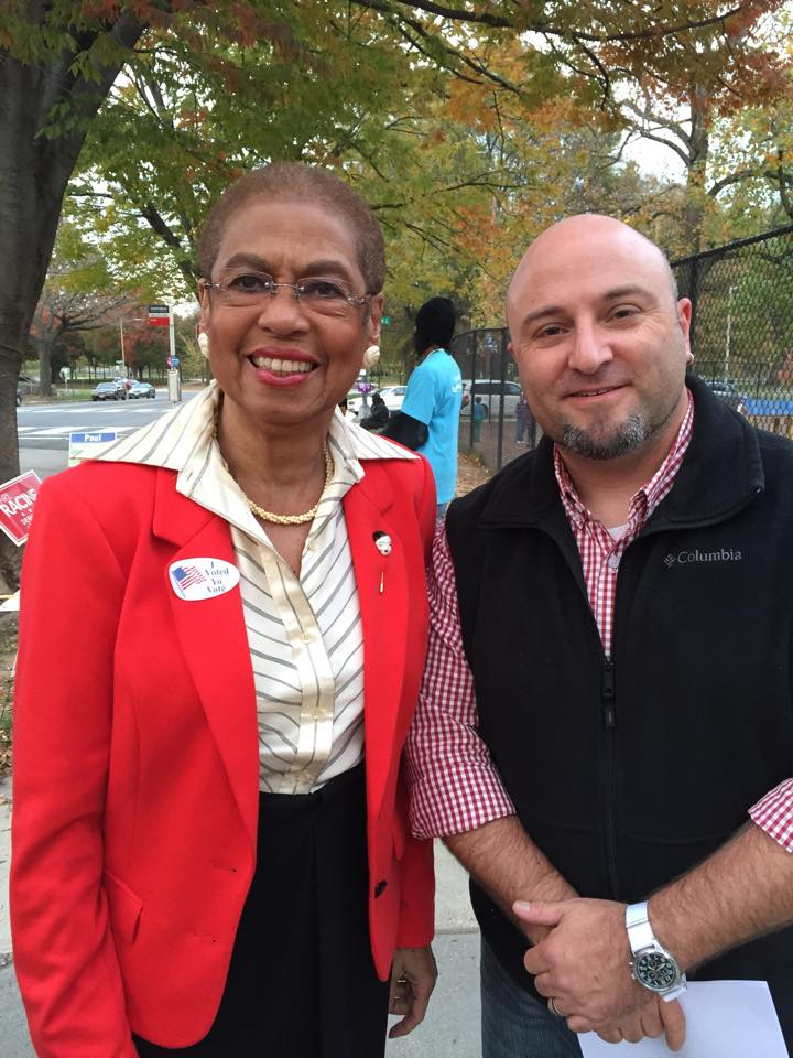 Had the pleasure of meeting Eleanor Holmes Norton this afternoon.    November 4, 2014