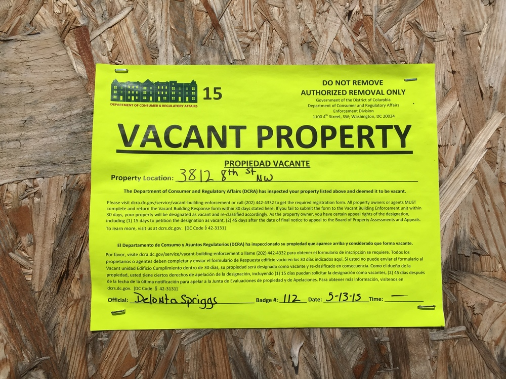 This sticker means a higher fee is assessed on the property owner.