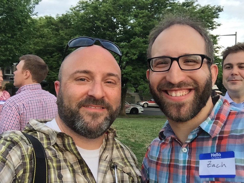 Hanging with Zach Teutsch at the Lemonade Social.    May 27, 2015