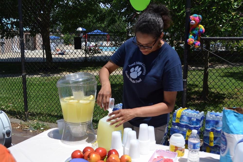 Ellyon Bell serves up some cool lemonade.