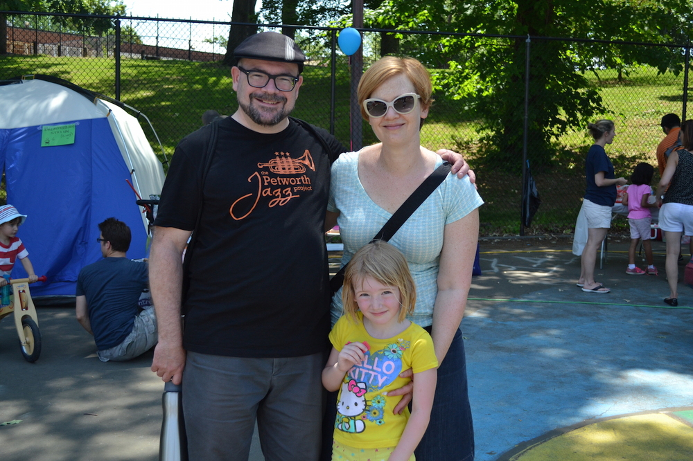 Dan and Kristin Searing, with cute Maggie, from Taylor Street, enjoying the carnival.