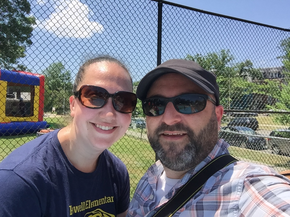 Amy Symonds, Powell Elementary teacher, poses for a selfie with Drew at the Powell Carnival.    5/30/15
