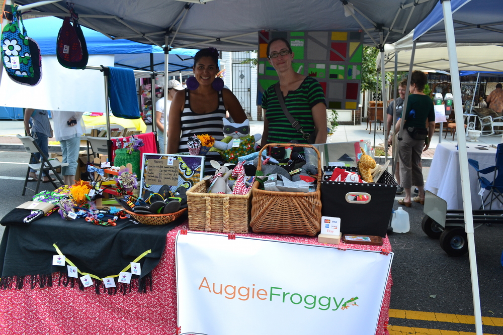 Saida Rehani from Afro Baby and Kathleen Gough from Auggie Froggie.