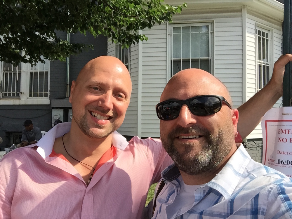 Fritz Hubig poses for a selfie with Drew    June 6, 2015