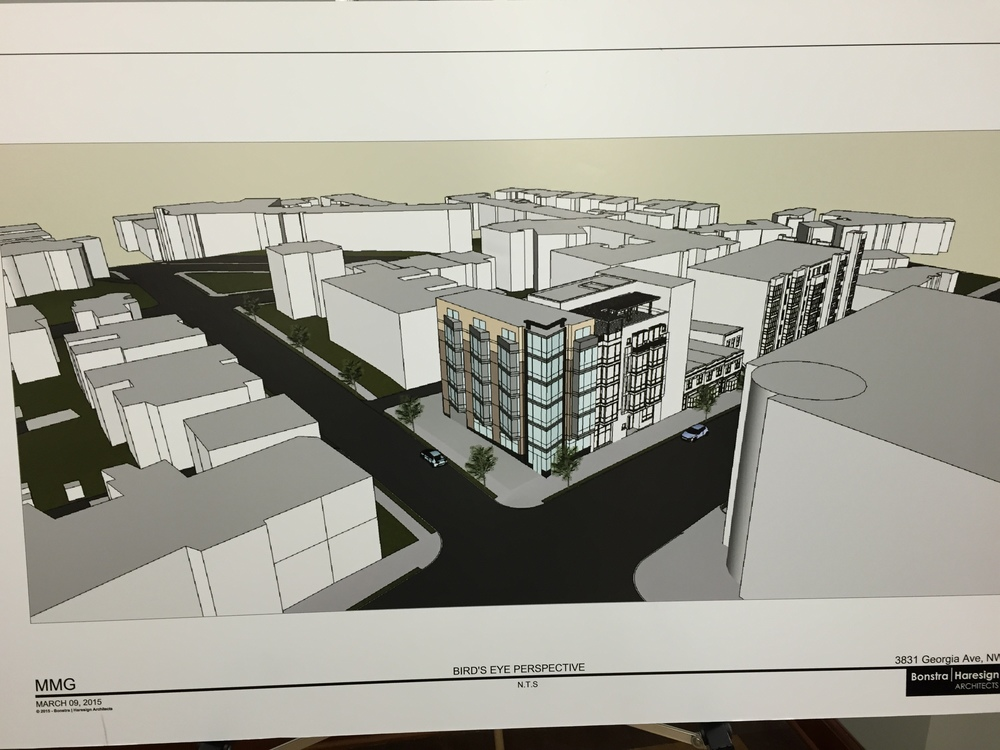 Proposed design for 20-unit apartment building.