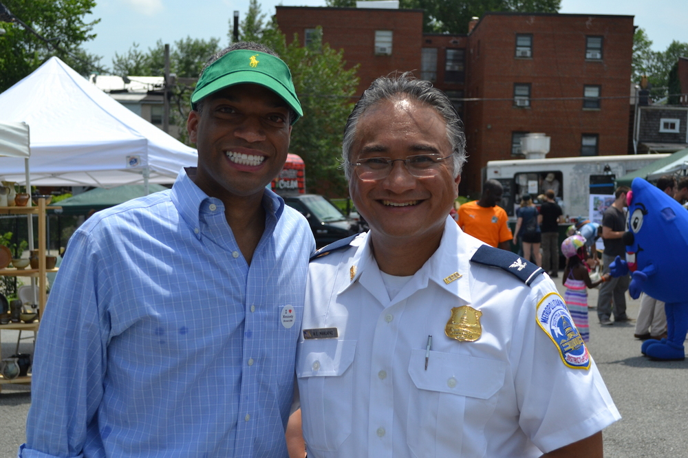 Councilmember Brandon Todd and Commander Wilfredo Manlapaz