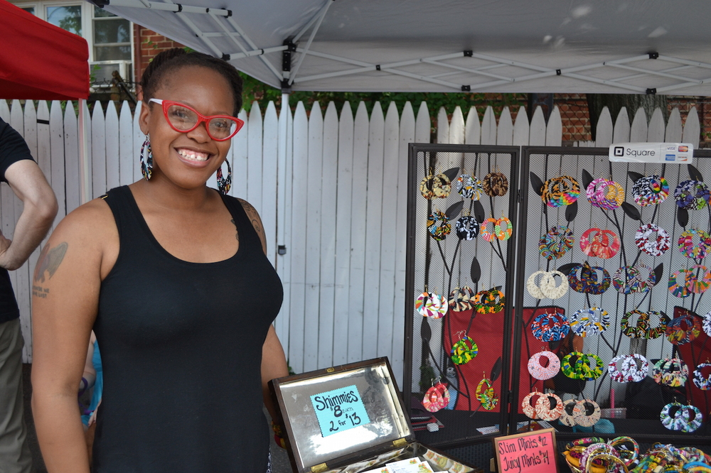 "Bianca Alexis, from Hyattsville, who was selling her handmade jewelry. She told me, with a laugh, ""I make these while my children are sleeping!"" Find her at  All Things B Alexis"