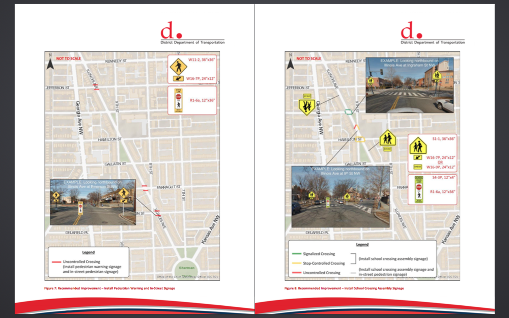 Screen grab rom the  DDOT report on Illinois Ave .