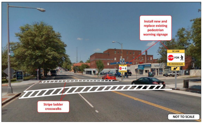 From the  DDOT report on Georgia Ave.