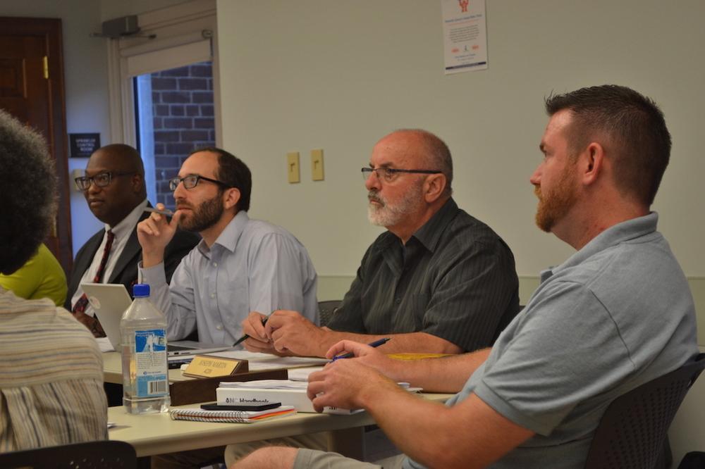 4C Chair Vann-Di Galloway, Commissioners Zach Teutsch, Joe Martin and John-Paul Hayworth