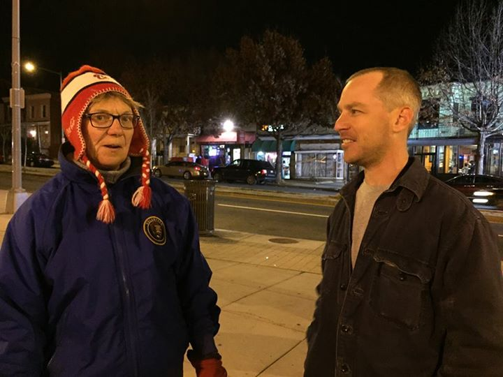 Carol Herwig and Dan Silverman at the MPD neighborhood walk-through, December 27, 2014