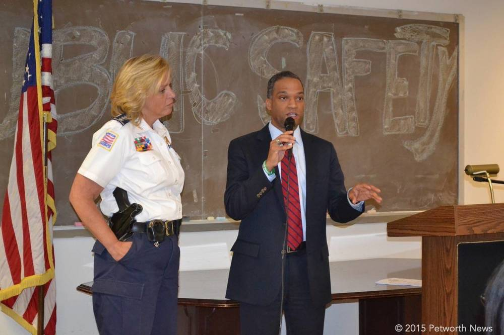 DC Police Chief Kathy Lanier and Ward 4 Councilmember Brandon Todd