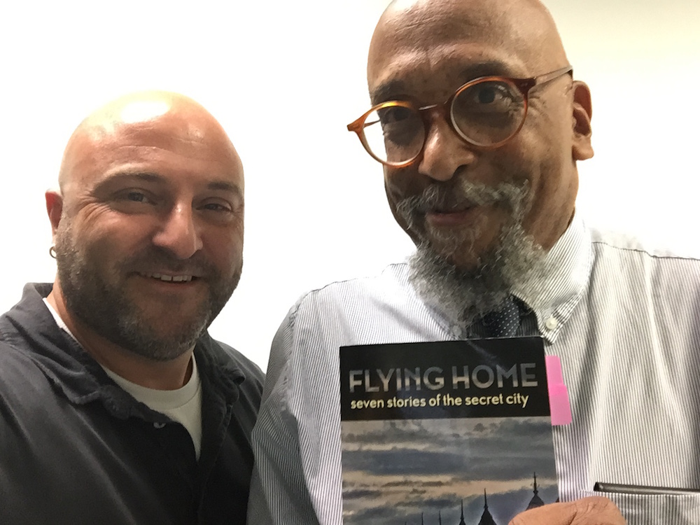 Selfie with DC author David Nicholson, September 2, 2015.
