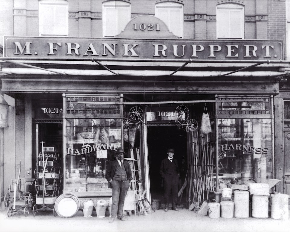 The Ruppert Hardware Store, opened on 7th Street in the 1890s.  (courtesy Paul Ruppert)