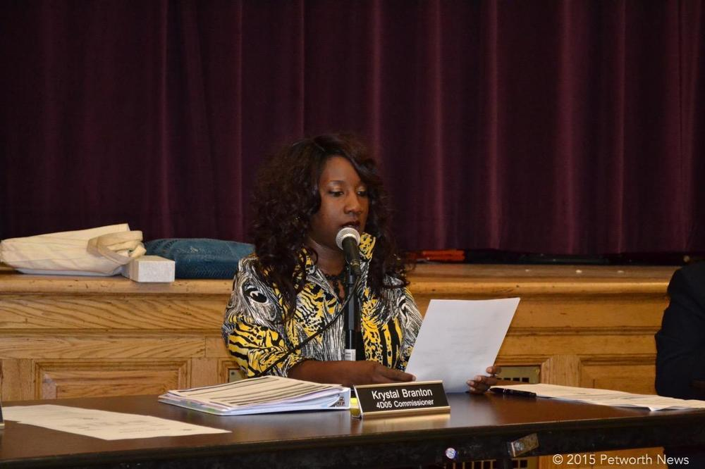 Giving the Treasurer's report at a recent ANC 4D meeting