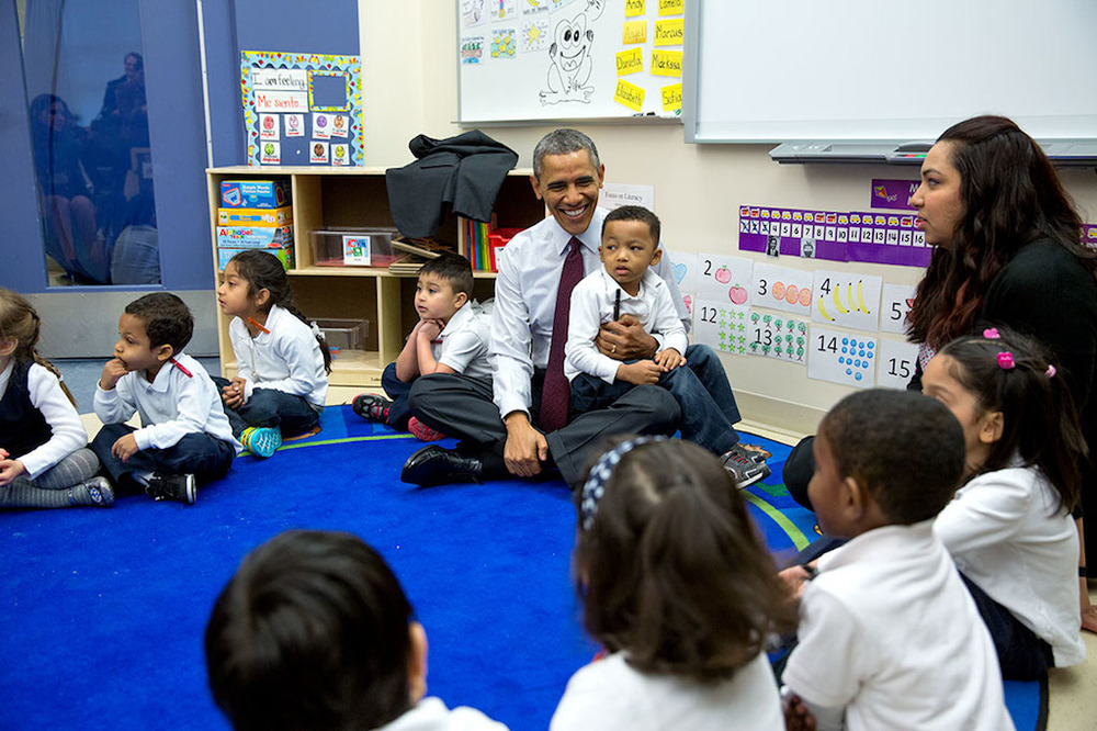 President Obama at Powell Elementary (photo: WhiteHouse.gov)