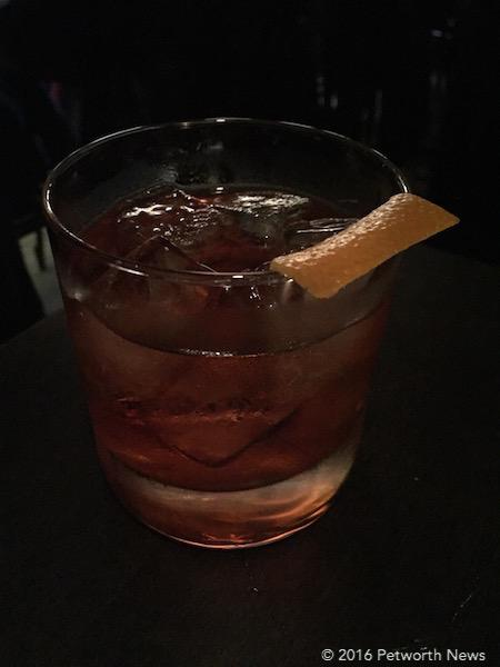 The Mezcal Negroni cocktail.