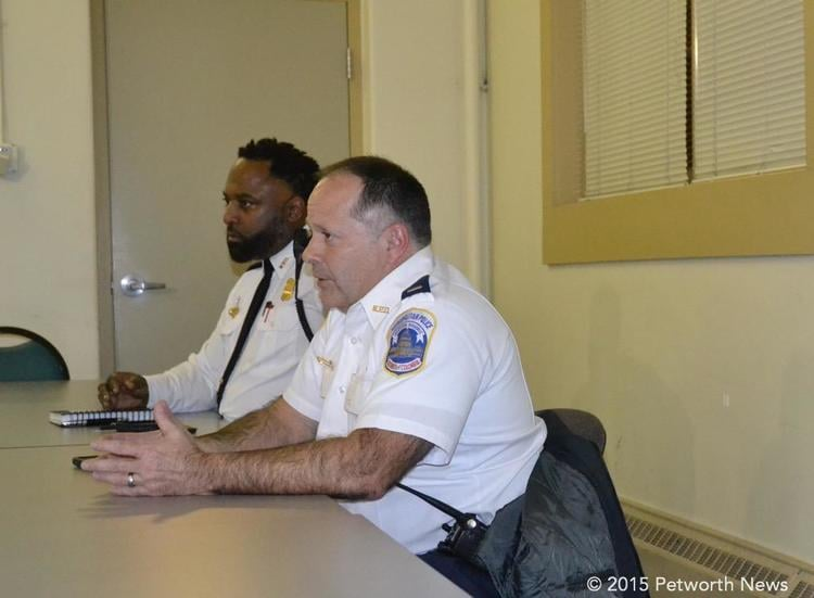 Lieutenants Anthony Washington and Raul Figueras at the PSA 404/407 meeting.