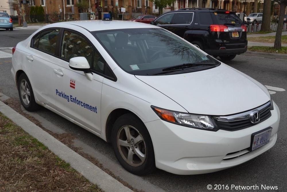 DPW Parking Enforcement vehicle