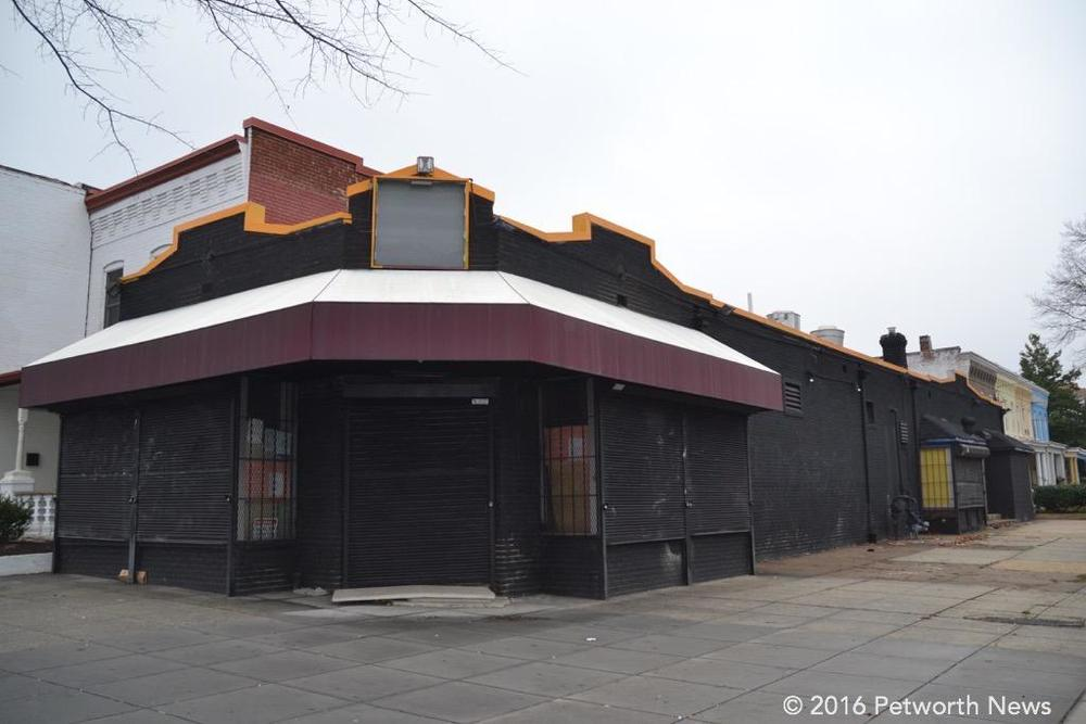 The future home of Castello Restaurant and Lounge, recently painted black.