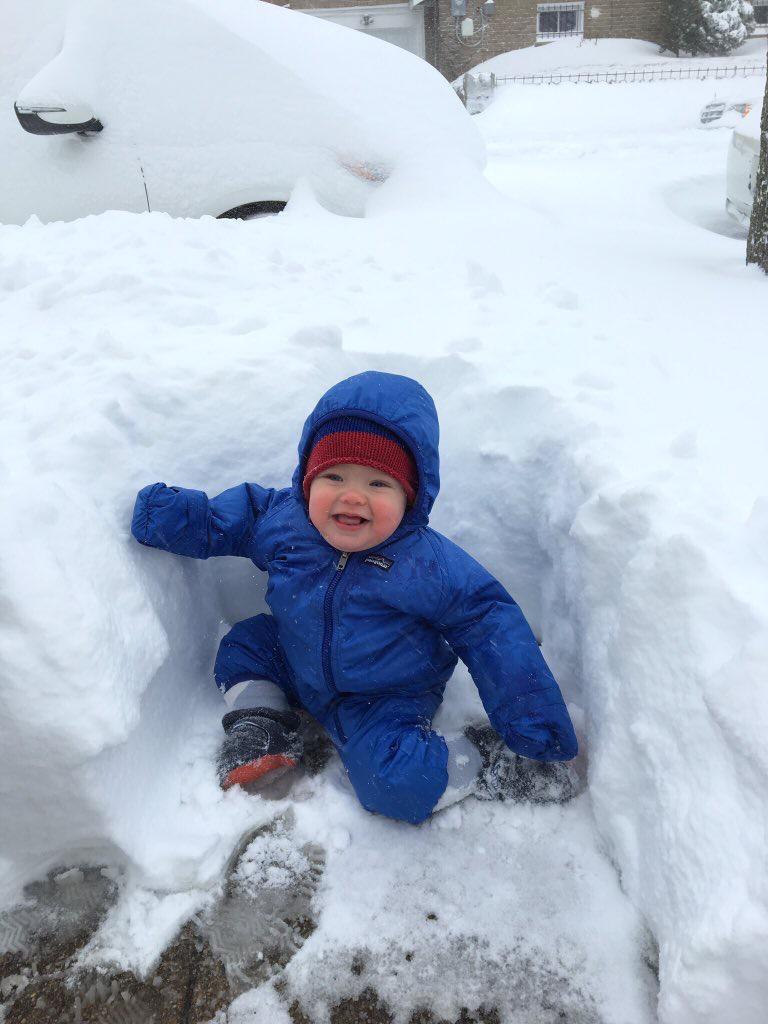 Baby Ingrid in the snow! ( Photo: Kate Lofgren)