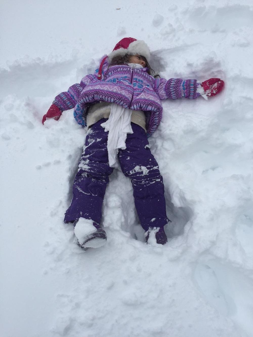 Snow Angel!  (photo: Amy Thomas)