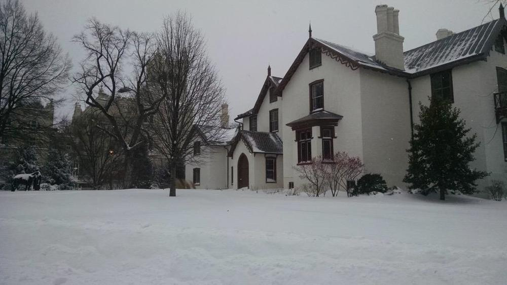 Lincoln's Cottage during the storm  (photo: Lincoln's Cottage / Curtis Harris)