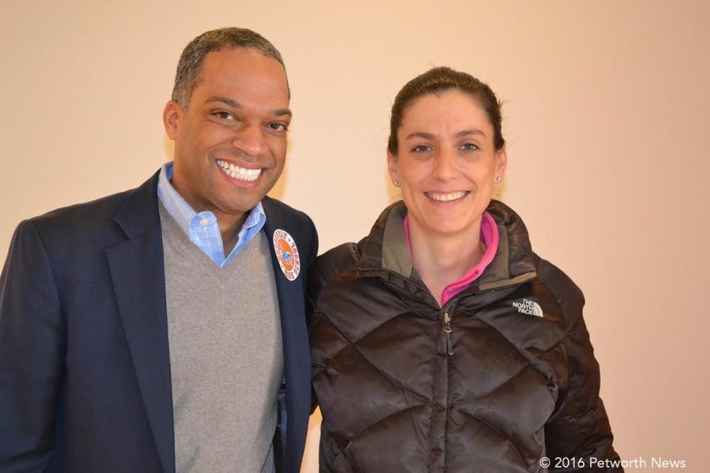 Ward 4 Councilmember Brandon Todd with Heather Schneider.