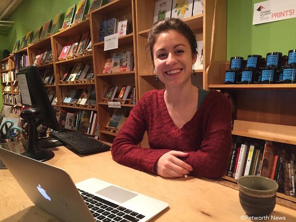 Upshur Street Books manager Anna Thorn
