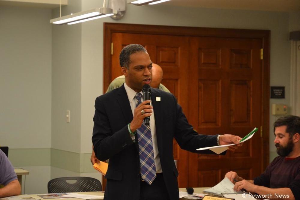 Ward 4 Councilmember Brandon Todd speaking to the ANC