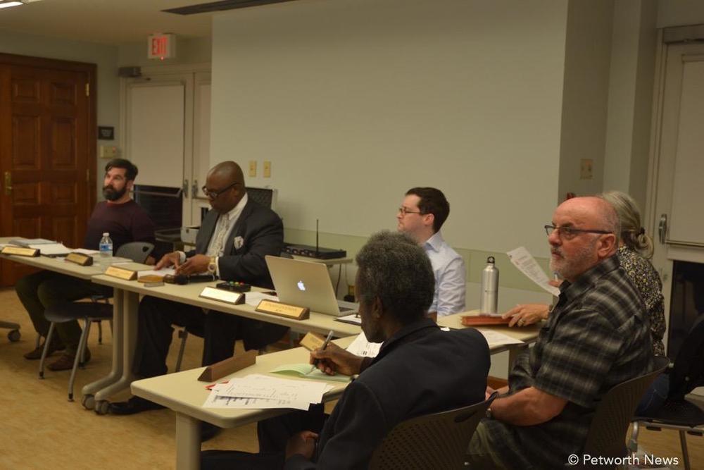 Commissioner Halpern, Chair Galloway, Commissioners Goodman, Irwin, Martin and Jones.