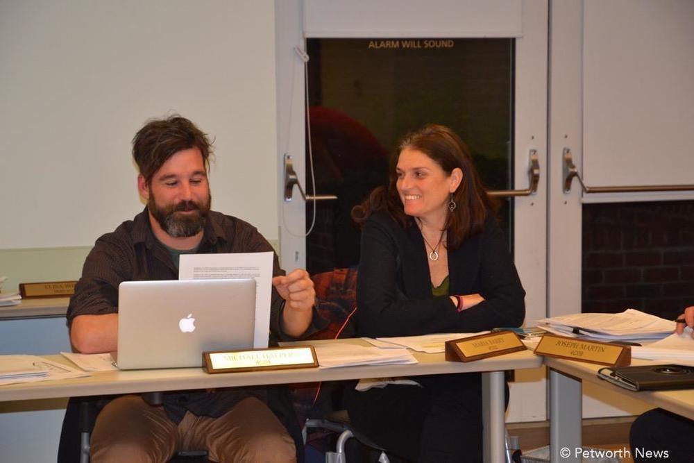 Treasurer Michael Halpern and Commissioner Maria Barry