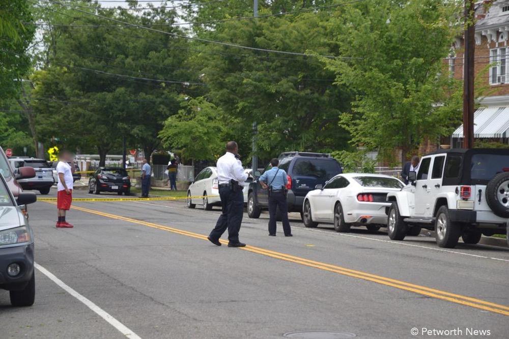 The scene earlier at Illinois Avenue