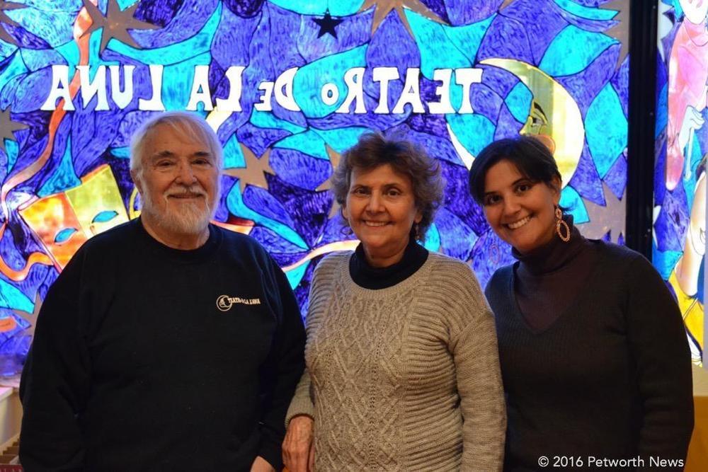 Teatro de la Luna founders Mario Marcel, Graciela Walder and Marcel Ferlito