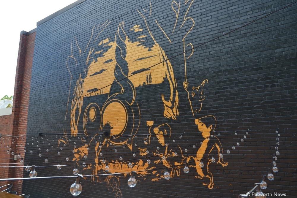 Nekisha Durrett's mural at Twisted Horn