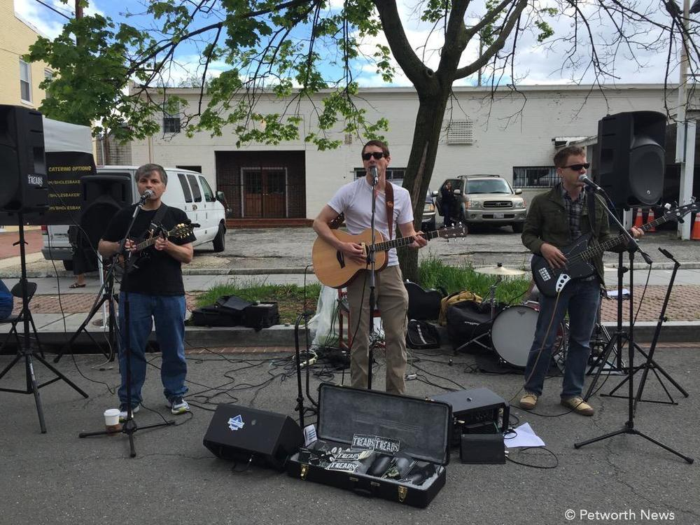 The Treads, performing at the Petworth Farmer's Market