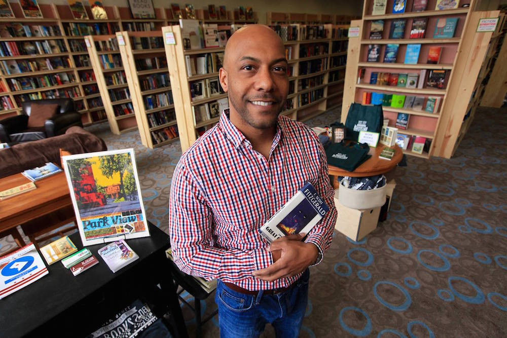 Pablo Sierra, owner of Walls of Books in Park View (photo courtesy Walls of Books)