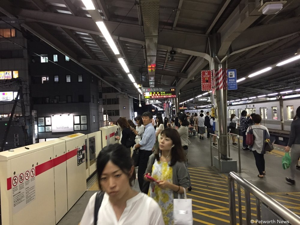 Tokyo metro is so much more crowded than DC, but really efficient.
