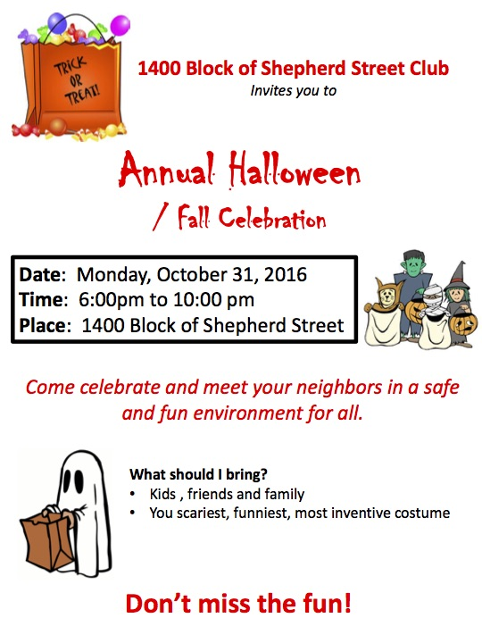 Local Halloween Events And Block Parties Petworth News