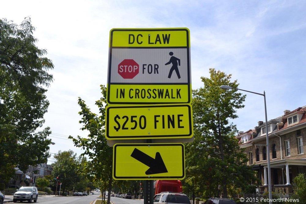 A useless sign at Grant Circle