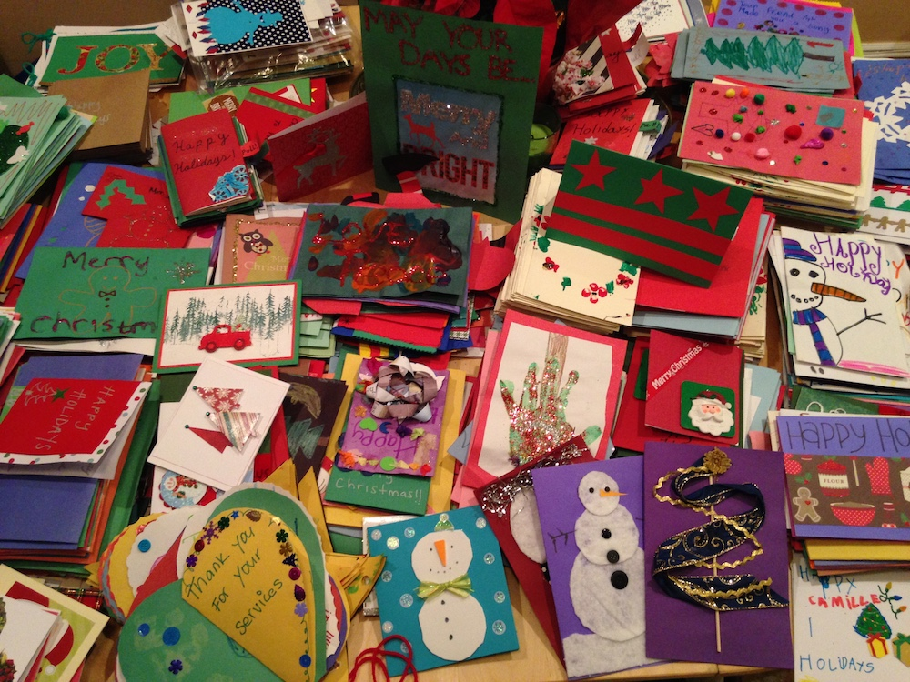 Some of last year's cards (photo: Sarah Gabriel)